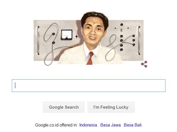 Sosok Ilmuwan Indonesia Hiasi Google Doodle Hari Ini