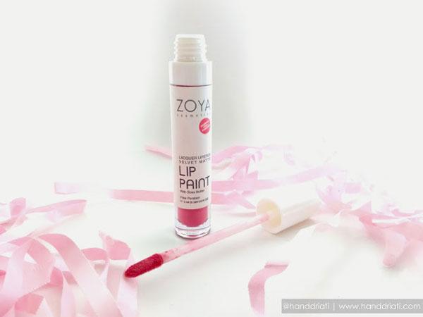 Review : Zoya Lip Paint Lacquer Lipstick Velvet Matte