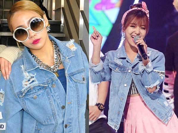 Ripped Denim Jacket Kembar CL 2NE1 vs Luna f(x), Who Wore It Better?