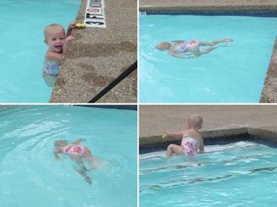 Wow, Bayi 1,5 Tahun Berenang Tanpa Pelampung