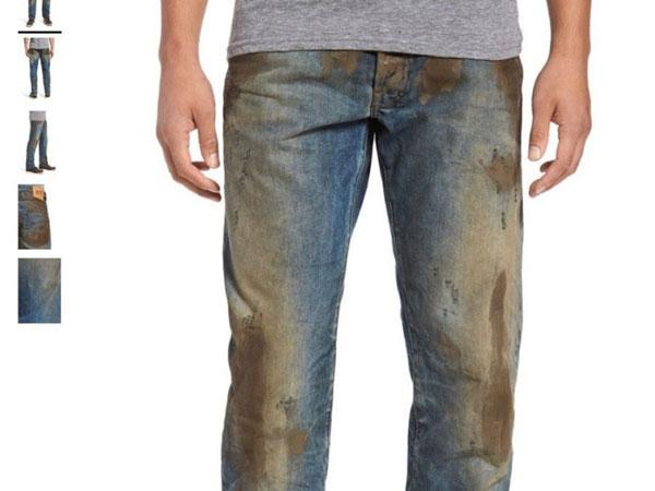 Celana Penuh Lumpur yang Dijual dengan Harga Tak Masuk Akal Ini Tuai Kritikan!