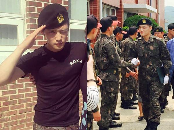 Jaejoong JYJ Raih Ranking Pertama di Pelatihan Dasar Militer