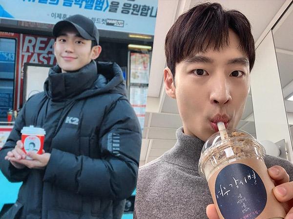 Manisnya Lee Je Hoon dan Jung Hae In Saling Balas Dukungan Lewat Coffee Truck