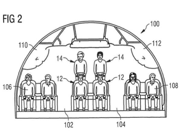 Duh, Desain Terbaru Kursi Pesawat Tempatkan Penumpang Di Atas Penumpang Lainnya?