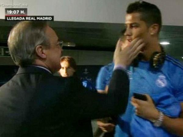 Diisukan akan Pindah Klub, Ronaldo Ditampar Presiden Real Madrid Sebelum Tanding
