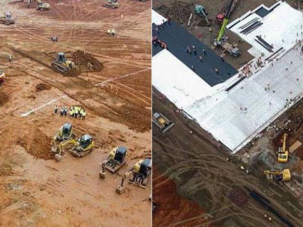 Foto-foto Pembangunan 'Kilat' Rumah Sakit Darurat Corona di Wuhan Hanya Dalam 10 Hari!