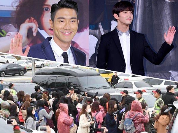 Meski Tertutup, Fans Tetap Padati Lokasi Pelepasan Wamil Siwon dan Changmin