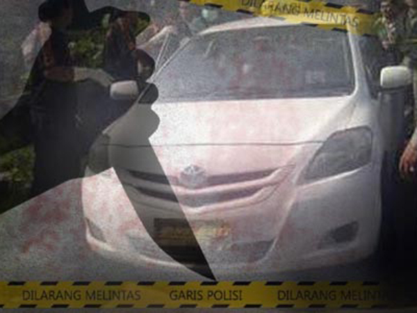Seorang Supir Taksi Ditemukan Tewas Berlumuran Darah di Mobilnya