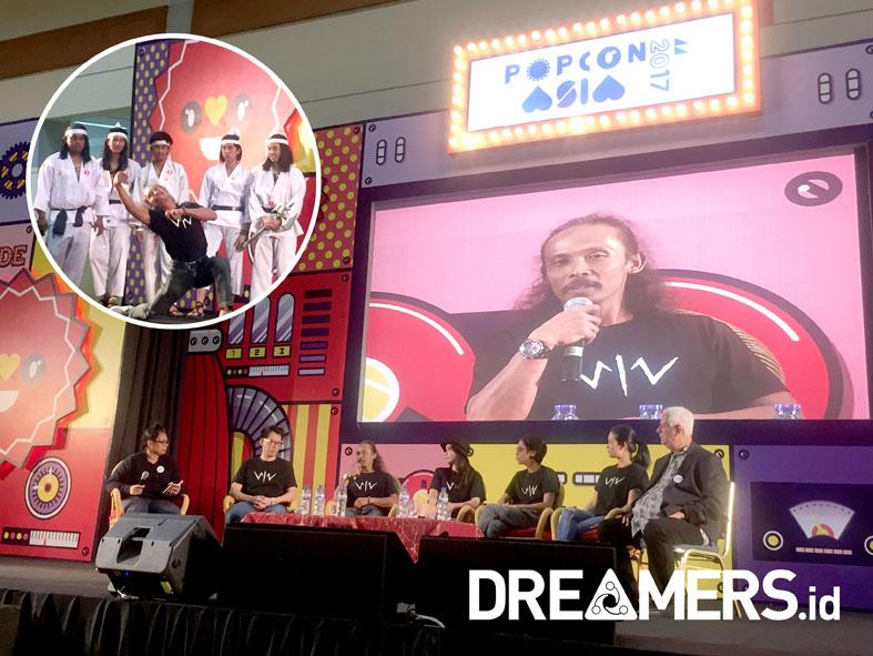 Perdana, Yayan Ruhian Pamer Koreografi 'Wiro Sableng 212' di Popcon Asia 2017
