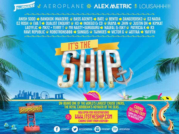 Festival Musik di Kapal Pesiar 'It's The Ship' Siap Digelar November 2014!