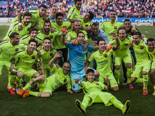 Rayakan Gelar, Pemain Barcelona Memaki Real Madrid