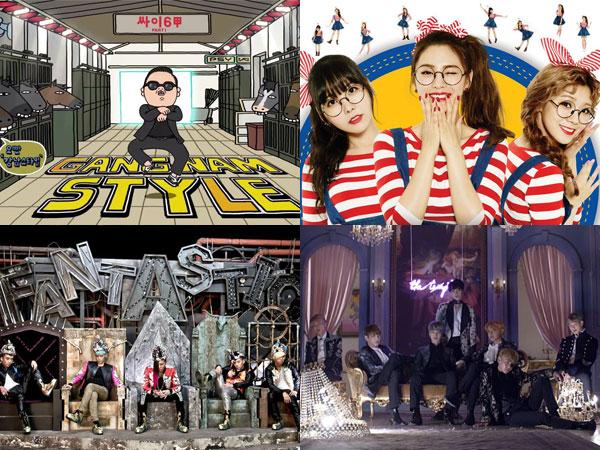 PSY, Orange Caramel, BIGBANG, dan BTS Masuk Daftar MV Paling Ikonik Versi Billboard