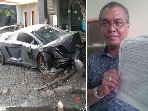 Gerah Diberitakan, Pengemudi Lamborghini Tabrak Warung Jamu Ancam Media Lewat Iklan