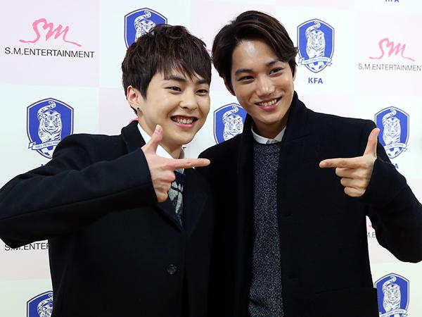 Kai dan Xiumin EXO Ditunjuk Jadi Duta Kehormatan Asosiasi Sepakbola Korsel