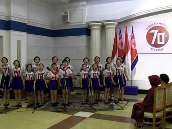 Video Siswa Korea Utara Nyanyikan Lagu Nasional Indonesia Hebohkan Dunia Maya