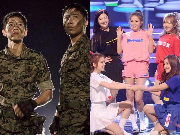 Tampil Beri Kejutan di 'Descendants of the Sun', Red Velvet Buat Song Joong Ki & Jin Goo Heboh!