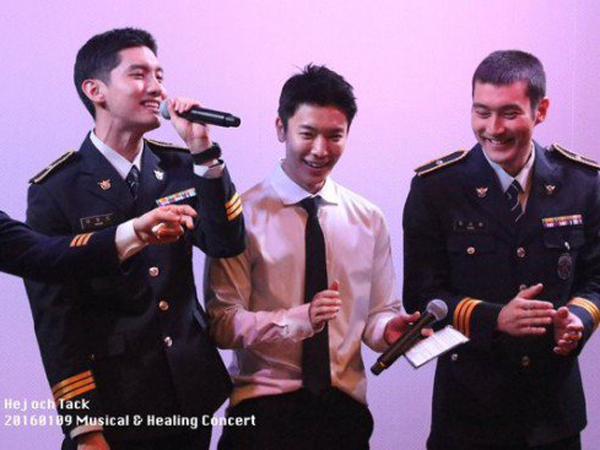 Jadi Polisi, Donghae dan Siwon Super Junior Serta Changmin TVXQ Reuni di Acara Militer