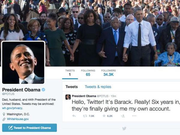 Punya Akun Twitter Sendiri Setelah 6 Tahun Menjabat, Presiden Obama Banjir Mention