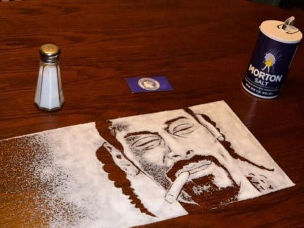 Kreatif, Lukisan Keren Ini Terbuat dari Garam!