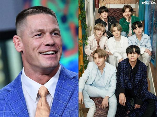 John Cena Ungkap Alasan Jatuh Cinta dengan BTS dan ARMY