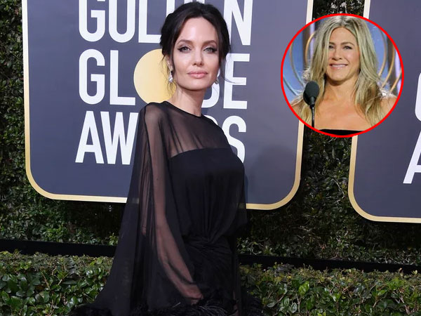 Reaksi Angelina Jolie Melihat Jennifer Aniston di Golden Globes 2018