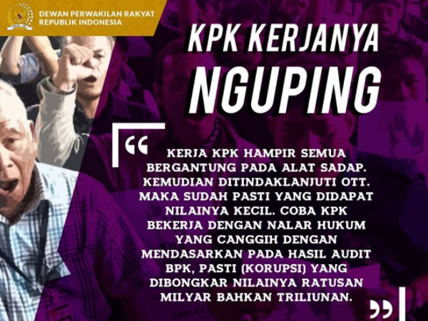 Tanggapan Pro dan Kontra DPR RI serta ICW Soal Unggahan 'KPK Kerjanya Nguping'