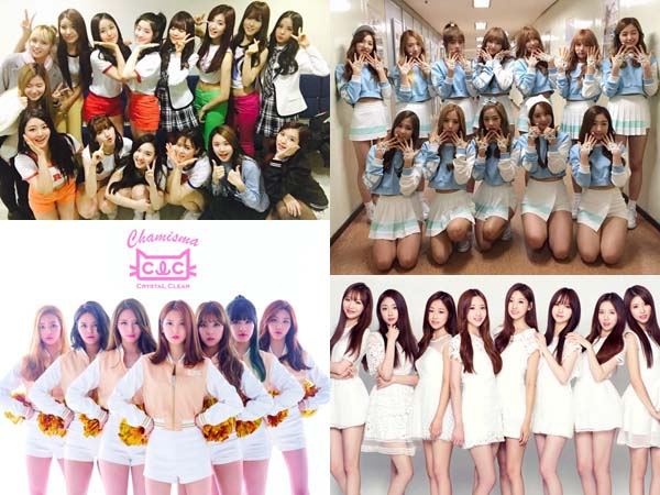 Yuk, Intip Penampilan Sederet Girl Group Yang Sukses Membawakan Lagu Grup Seniornya!