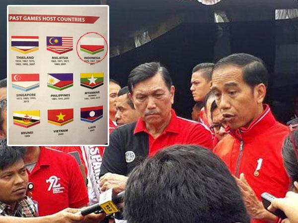 Tanggapan Presiden Jokowi Soal Bendera Indonesia Terbalik di Sea Games 2017