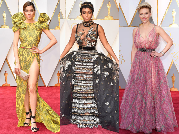 Gaya Fashion 'Berani' Para Selebriti Hollywood di Red Carpet Oscar 2017, Yes or No?