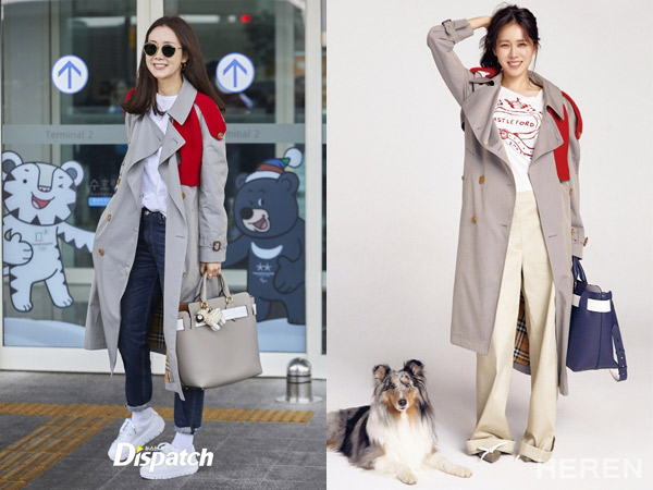Trench Coat Kembar Aktris Cantik Son Ye Jin vs Choi Ji Woo, Who Wore It Better?