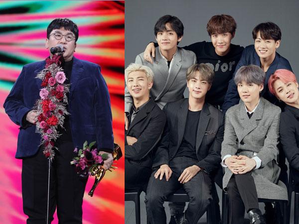 Menang Daesang di GDA Hari Pertama, BTS Titip Surat Lewat Bang Shi Hyuk
