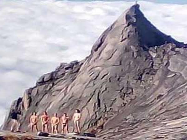 Polisi Malaysia Buru 5 Pendaki Bugil Gunung Kinabalu