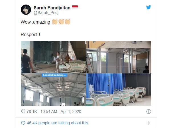 Tuai Salut Netizen, Mall di Jakarta Selatan Ini Diubah Jadi Rumah Sakit Pasien Virus Corona