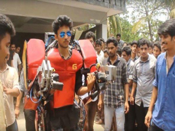Keren, Mahasiswa Teknik India Ini Membuat Baju Ironman