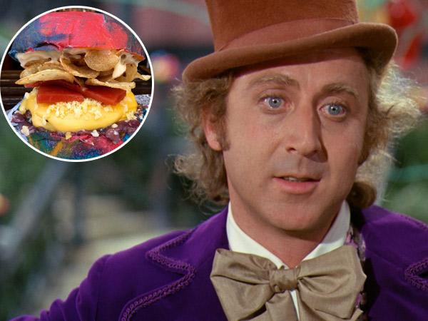 Kenang Pemeran Willy Wonka, Toko Roti Ini Hadirkan Burger Pelangi