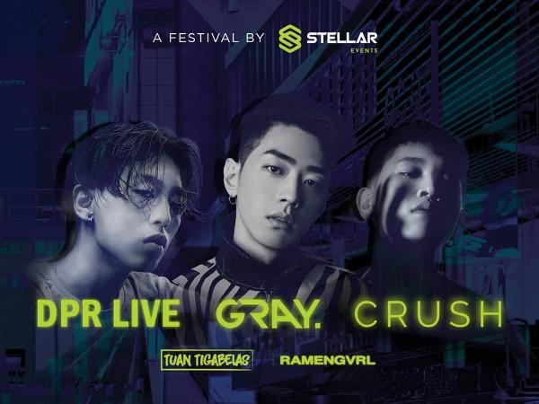 Rapper Gray, Crush, dan DPR Live Akan Segera Manggung di Jakarta!