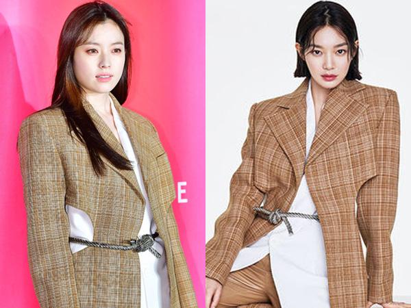Check Coat Kembar Han Hyo Joo vs Shin Min Ah, Who Wore It Better?