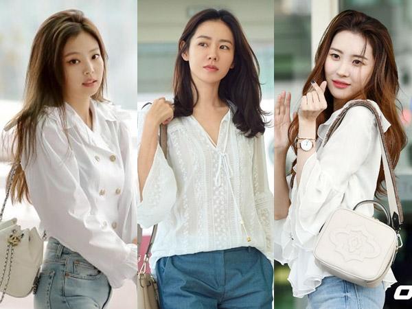 Inspirasi Blouse Casual Putih Ala Seleb Cantik Korea untuk Silaturahmi Lebaran