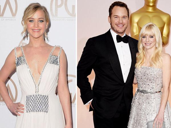 Gara-gara Jennifer Lawrence Pernikahan Chris Pratt & Anna Faris Retak?