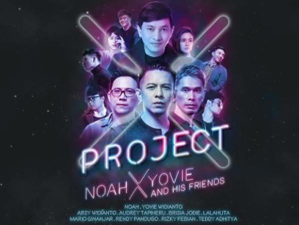 Kolaborasi NOAH dan Yovie Widianto dalam Konser 'Project X' Jakarta