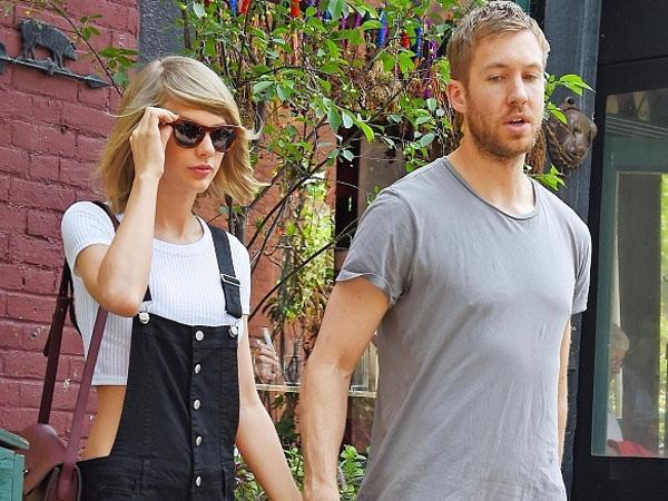 Liburan Romantis, Taylor Swift dan Calvin Harris Pamer Ciuman Mesra