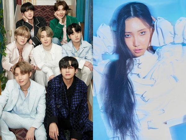 BTS Kembali No.1, Hwasa MAMAMOO Debut di Chart Billboard World Albums