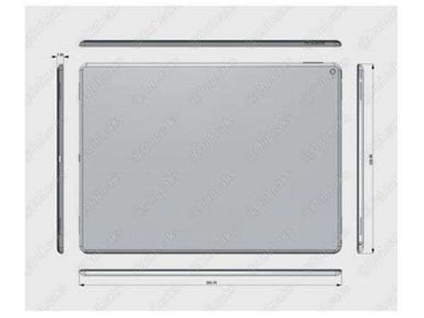 Inilah Bocoran Skema Desain dan Ukuran iPad Pro