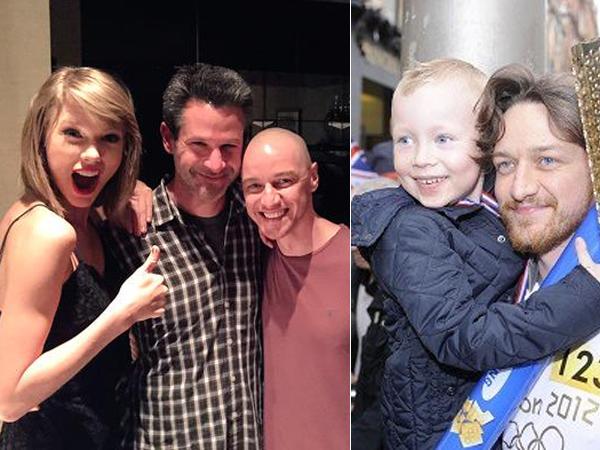 Foto Bareng Taylor Swift, James McAvoy Dimarahi Anak Lelakinya