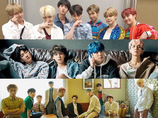 Album Baru BTS, WINNER dan PENTAGON Debut di Chart Billboard World Albums