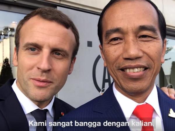 Satu Lagi Pesan VLOG Jokowi Bareng Pemimpin Muda Dunia yang Tampan, Emmanuel Macron