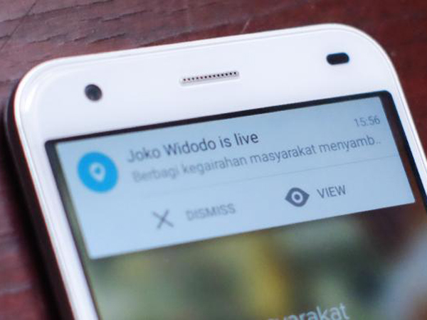 Ramaikan #KarnavalKhatulistiwa, Presiden Jokowi Gunakan Aplikasi Periscope