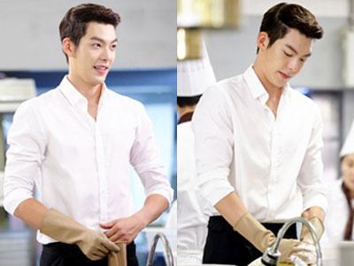 Walau Sambil Cuci Piring, Kim Woo Bin Tetap Bersinar Dalam Syuting 'The Heirs'