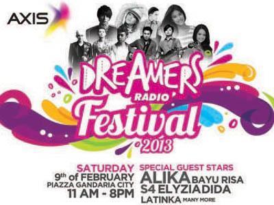 Ini Dia Para Pemenang Freetix dan Door Prize Dreamers Radio Festival 2013