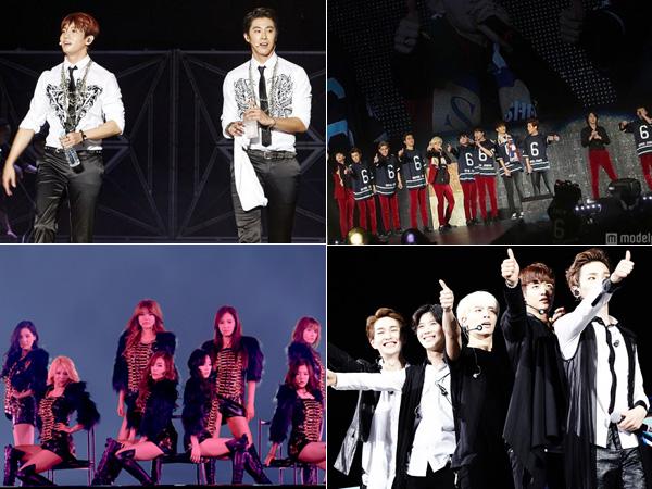 SM Entertainment Rayakan Kesuksesan Konser 4 Artisnya di Berbagai Dome Jepang!